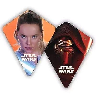 X-Kites Flipflop Star Wars Kylo Ren Rey Reversible 30 Inch Poly Diamond Kite: Toys & Games