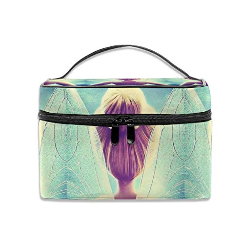 Cosmetic Bag Tinkerbell And Fairy Portable Travel Makeup Bag Cosmetics Organizer Multifunction Toiletry Bags Storage - Tinkerbell Travel Bags