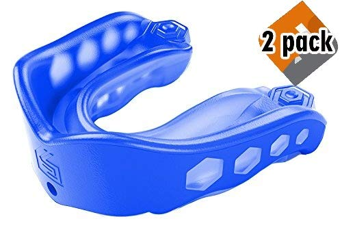 Shock Doctor Mouthguard: #1 Sport Mouth Guard - Gel Max Mouthguard for Football, Lacrosse, Basketball, Boxing, MMA, Martial Arts, and More - Includes Helmet Strap - (Youth & Adult Sizes) 2 Pack