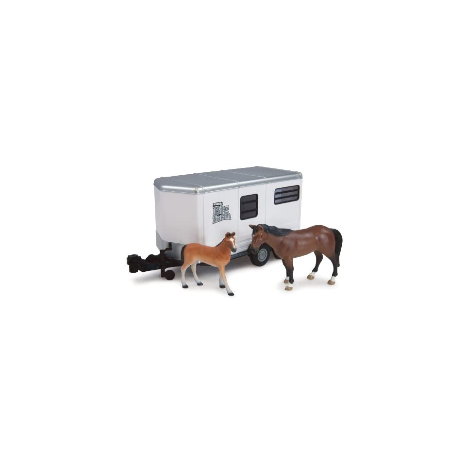 Tomy International Big Farm 116 Horse Trailer with Horse and Colt