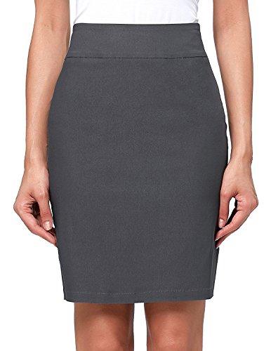 Kate Kasin Casual Above Knee Dark Grey Women Pencil Skirt Size S KK276-2