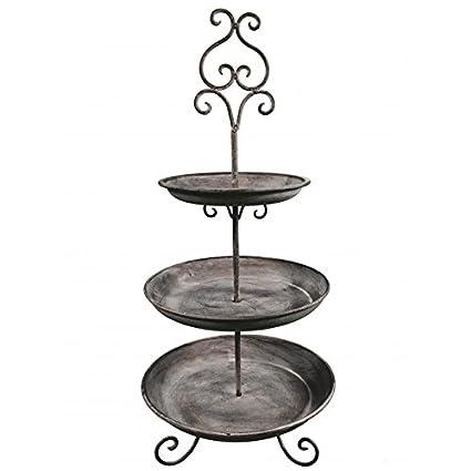 Expositor cesta bandeja de 3 pisos o cuencos para aperitivos 3 niveles centro de mesa de