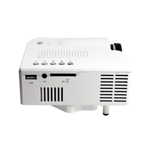 Rienar Portable Mini Hd LED Projector Cinema Theater,Support PC Laptop HDMI VGA Input and SD + USB + AV Input,for iphone,galaxy,laptop,mac.with Remote Control,white