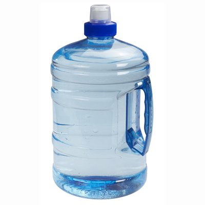 Sports Blue H2o Round Water Bottle Drink Container with Handle 2L