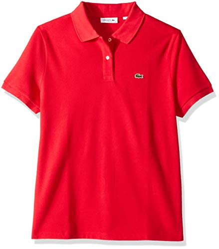 (Lacoste Women's Classic Fit Short Sleeve Soft Cotton Petit Piqué Polo, imperial red, 10)