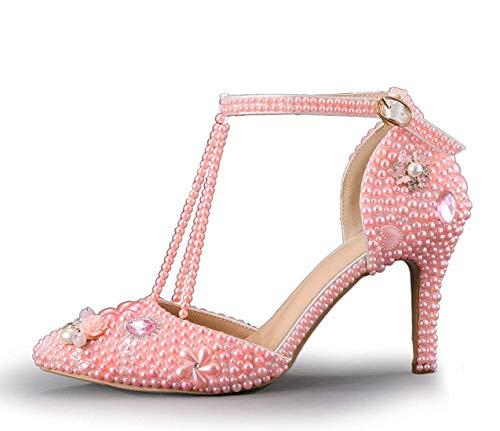 Rosa color Boda Mujer strap Adornos Unido Hhgold Para Pearl Con De T Zapatos Color Reino En Tamaño Nupcial wxazz7A4