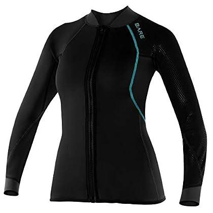 Image of 882689145384 Bare Womens EXOWEAR Full Zipper Wetsuit Jacket Dive Skins