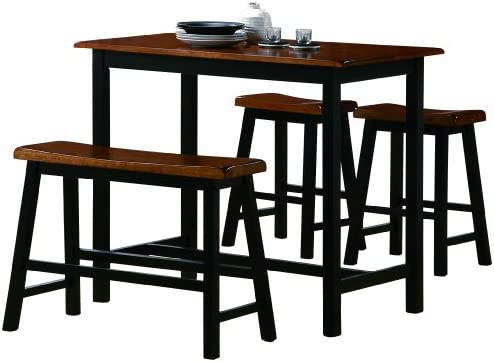 Crown Mark Tyler 4-Piece Counter Height Table Set  sc 1 st  Amazon.com & Amazon.com - Crown Mark Tyler 4-Piece Counter Height Table Set ...