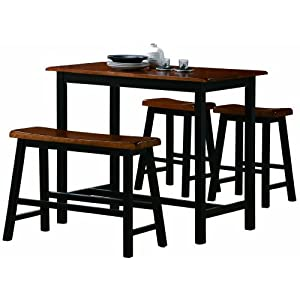 Crown Mark Tyler 4-Piece Counter Height Table Set 4170WGpdgVL