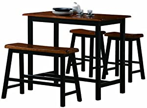 Amazon Com Crown Mark Tyler 4 Piece Counter Height Table
