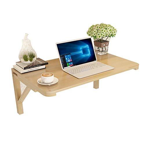 LEILEI Mesa de Escritorio Plegable para computadora de Madera Maciza Mesa montada en la Pared Mesa de Soporte para computadora portatil Mesa de Comedor contra la Pared 100x40 cm