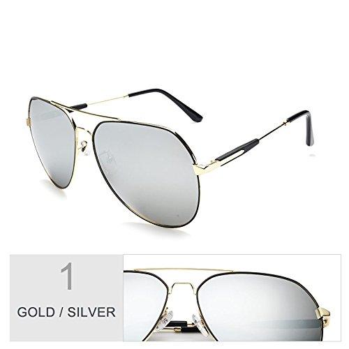 Polarizadas Gold TIANLIANG04 Sol Conducción Gafas Gun De Sol Gafas Gris Color Hombre Gafas Silver Por De Para El Aviador FFqpTrI