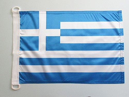 AZ FLAG Greece Nautical Flag 18'' x 12'' - Greek Flags 30 x 45 cm - Banner 12x18 in for Boat