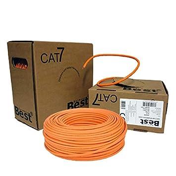 Netshop 25 Cat 7 Verlegekabel Gigabit 10gbit Amazon De Elektronik
