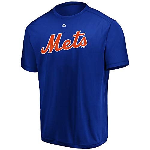 Majestic T-shirts Mlb - Majestic MLB Mets Adult Evolution Tee T-Shirt Size X-Large