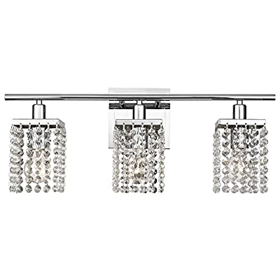 3-Light Crystal Bathroom Vanity Light