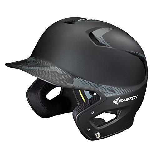 Easton Junior Z5 2 Tone Basecamp Batting Helmet, (Natural Grip Batting Helmet)