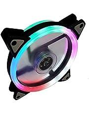 مروحة ألوان متعددة كمبيوتر ليد بمنفذين للتوصيل