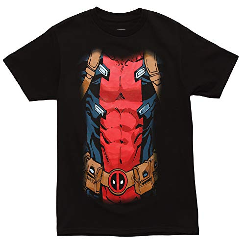 Marvel Deadpool Black 30 Single Men's Costume T-Shirt (Small)]()