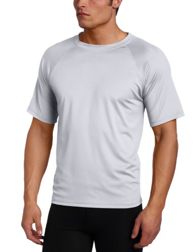 T-shirt Face Happy - Kanu Surf Men's Short Sleeve UPF 50+ Swim Shirt (Regular & Extended Sizes), Grey, Large
