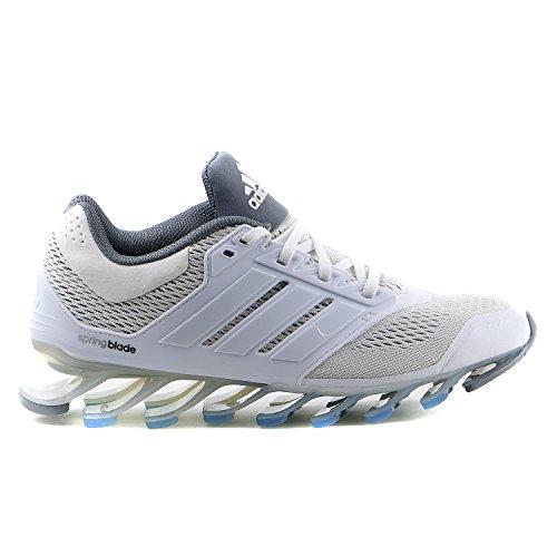 Adidas Springblade Drive Running Sneaker Shoe - White/Metallic Silver - Womens - 8.5
