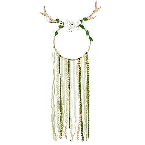 Woodland Nursery Decor for Boys and Girls – Hanging Dream catchers for Bedroom – Woodland Decorations for Wall or Ceiling – Dream catcher 20 Inches Wide 33 Inches Long