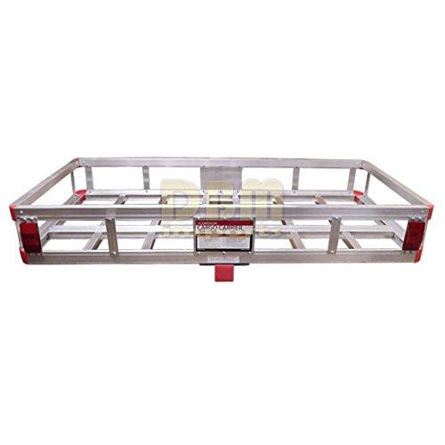Aluminum 500 LB Mount Cargo Rack Carrier 2'' Hitch Receiver Basket Truck Luggage