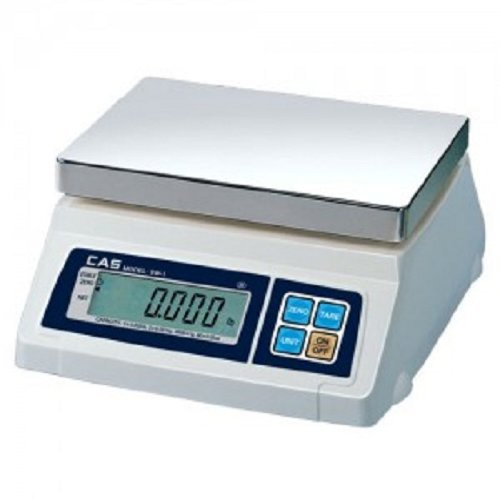 5 LB 0.002lb Readability 5lb Capacity CAS SW-1Z SW Series Decimal and Fracation Portion Control Bench Scale