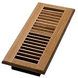 4 by 12 floor register - Decor Grates WL412-N Wood Louver Floor Register, Natural Oak, 4-Inch by 12-Inch