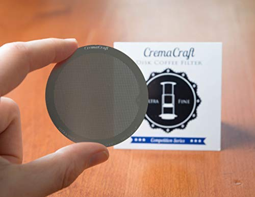 Amazon.com: CremaCraft ULTRA-FINE Metal Filter for Aeropress coffee and espresso maker. Washable & Reusable Permanent Stainless Steel Replacement Filter ...