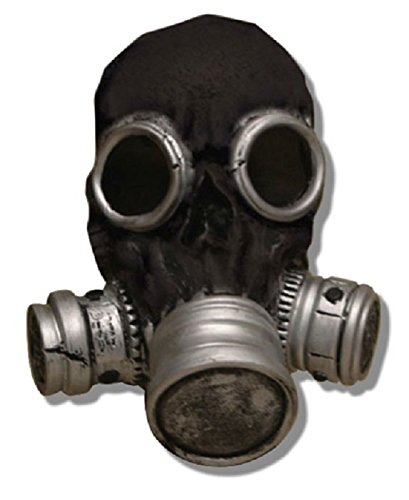 Bio Zombie Gas Mask (Black) (Scary Gas Mask Costume)