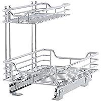 Household Essentials C26512-1 Glidez Under Sink Sliding Organizer (Chrome)