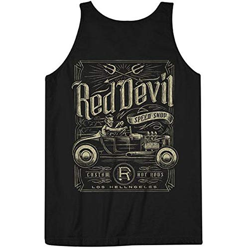 Red Devil Clothing Speed Shop Tank Top Black