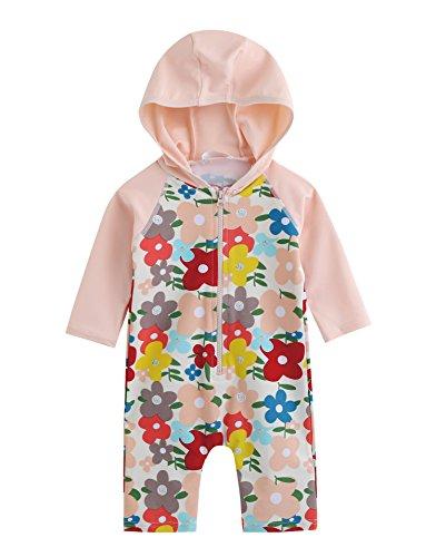 Vaenait Baby 0-24M Baby Girls Rashguard Swimwear One Piece Lauren Pink Baby S