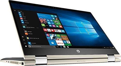 Flagship 2019 HP Pavilion x360 Business 14' 2-in-1 FHD Micro-Edge Touchscreen Laptop/Tablet, Intel Quad-Core i5-8250U 1.6GHz 8G/16G DDR4 256G/512G/1TB SSD B&O Backlit KB WLAN HDMI USB-C Win 10 —Gold