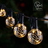 Novtech LED Outdoor String Lights 38.5FT 30Bulbs G40 Globe String Lights - Waterproof Patio String Lights Outdoor Decorative String Lights for Backyard Bistro Porch Garden Cafe Party - UL Standard