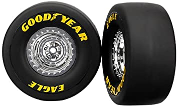 Traxxas 6973 Tires And Wheels Funny Car Rear 2 Piece Parts