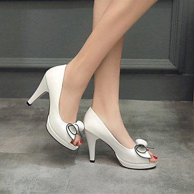 Robusto Patentado Sandalias Boda Vestido Mujer Blanco Confort Noche y black Fiesta Tacón ligaosheng Cuero Negro wqI41PxEq