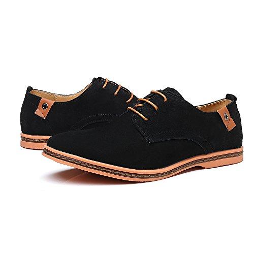 Zapatos Cordones Planos AARDIMI Hombre con Negro t6qZ64wd