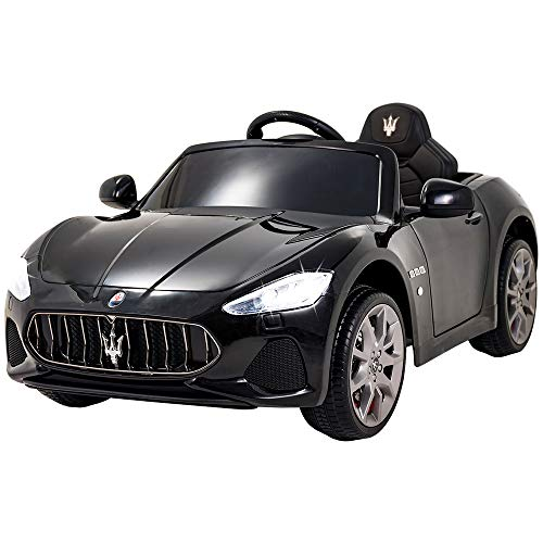 Uenjoy Maserati GranCabrio 12V Electric Kids Ride On Cars Motorized Vehicles with RC Remote Control, Suspension, MP3 Player, Light, Black (Best Remote Control Car 5 Year Old)
