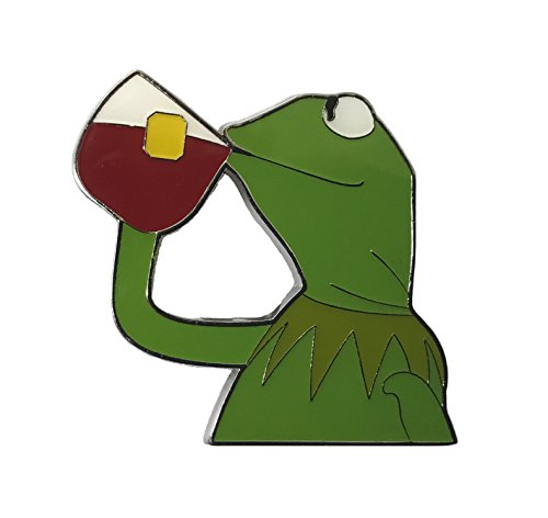 Balanced Co. Kermit None of My Business Meme Pin Kermit Enamel Pin Kermit Sipping Tea Hat Pin