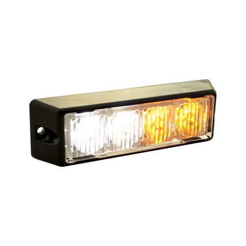 LAMPHUS SolarBlast SBLH04 LED Strobe Grille Flashing Lights [22 Modes] [4 Watt] [TIR] [Weatherproof] Warning Lights for Police & Firefighter Emergency Vehicles - Amber/White