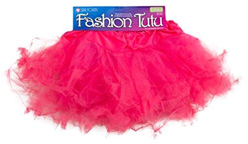 Star Power Party Princess Girl Costume Petticoat Tutu Skirt, Hot Pink, (Power Girl Costume Hot)