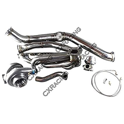 Amazon.com: GT35 Turbo Manifold Downpipe Kit for BMW E46 M52 Engine NA-T Top Mount: Automotive