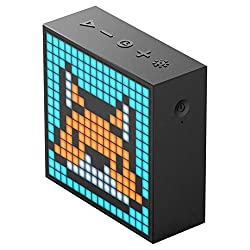 Divoom Timebox Evo Portable Bluetooth Pixel Art Speaker With 256 Programmable Led Panel 3 9 X 1 5 X 3 9 Inches Black