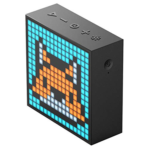 Divoom Timebox Evo Portable Bluetooth Pixel Art Speaker with 256 Programmable LED Panel 3.9 x 1.5 x 3.9 inches -...