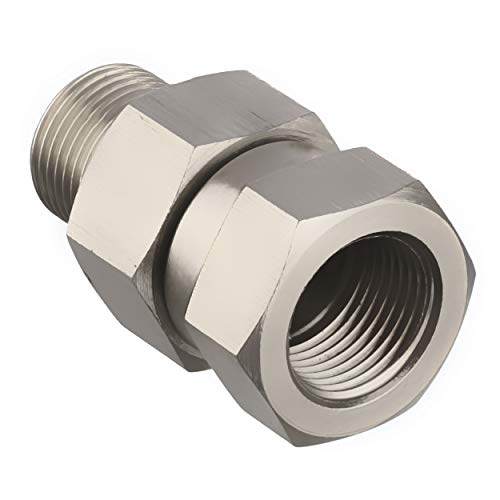 Mingle Pressure Washer Swivel, 4500 PSI, 3/8'' NPT-M Male Thread Fitting, Stainless Steel -