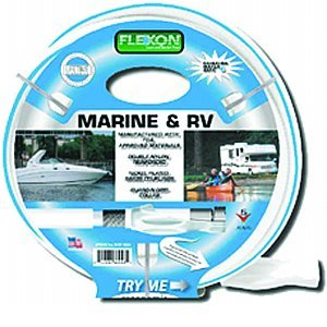 Flexon Rvm5850 5/8u0026quot; X 50u0027 White Marine And Rv Water Safe Hose