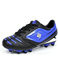 Kids Athletic Lace Up Outdoor/Indoor Light Weight Running Soccer Shoes (Toddler/Little Kid/Big Kid)