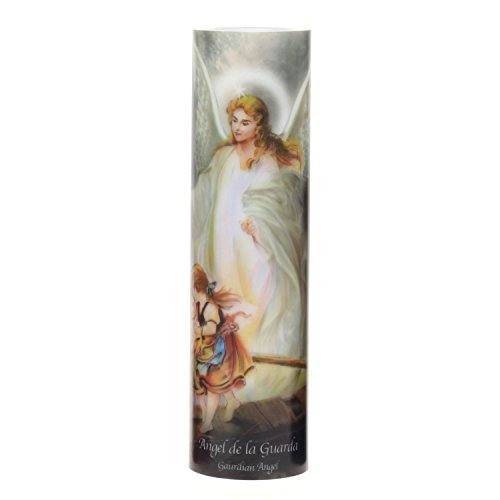 Candle Prayer Sister - The Saints Collection Guardian Angel Flickering LED Prayer Candle with Automatic Timer, Religious Gift Ideas for Mom, Dad, Sister, Brother, and Friends